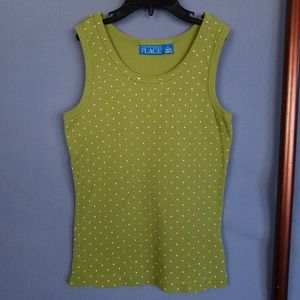 The Children's Place Polka Dot Rhinestone Tank Top